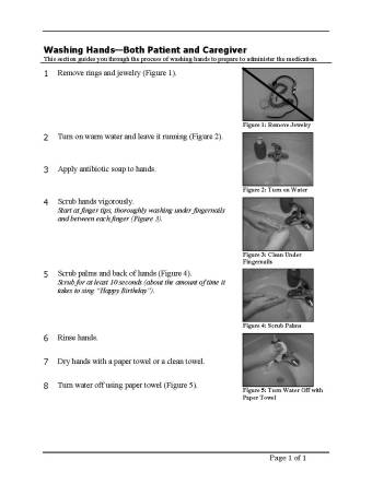 Instructions for Washing Hands